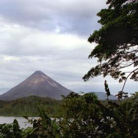 Volunteers visit Arenal volcano in their free time while volunteering in Costa Rica.